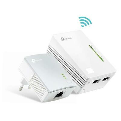 TP-LINK TL-WPA4220KIT Powerline AV600 WiFI Clone KIT 2 porte Ethernet, 300 Mbps