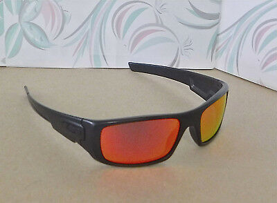 ce8f2e24428 New Oakley Crankshaft Sunglasses Black   Custom Polarized Ruby Lens w  Black