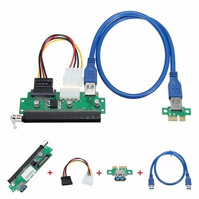 (on sale) 1pcs USB 3.0 PCI-E 1x To 16x Extender Riser Card w/ SATA Power Cable