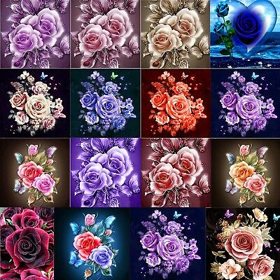 5D Diamond Painting DIY Flower Rose Embroidery Cross Craft Stitch Kit Art Decor