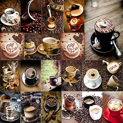 Kaffee DIY 5D Diamond Painting Diamant Kreuzstich Stickerei Malerei Stickpackung