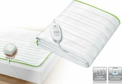 Beurer Single Electric Heated Blanket Underblanket Mattress Cover Ecologic+ TS15