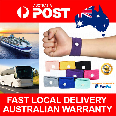 2pcs Anti Nausea Wrist Band Morning Sickness Sea Cruise Boat Car Motion Sick