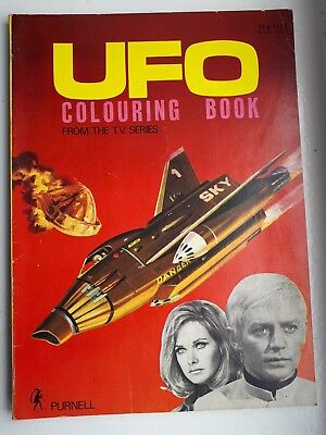 Gerry Anderson UFO Colouring Book 1971 Purnell Good Condition - RARE