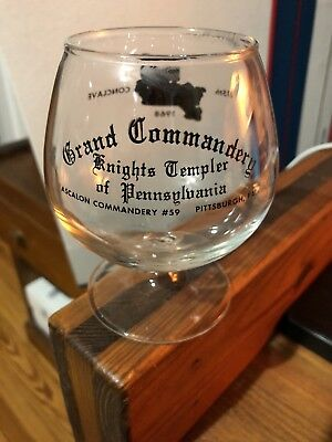 Knights Templar of Pennsylvania - 115th Conclave Glass Cup (1968)