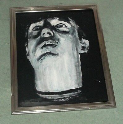 IAN CURTIS, JOY DIVISION,,.HAND PAINTED canvas 20 X 16  INS..READY TO DISPLAY 2