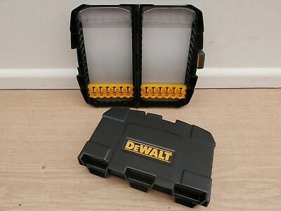 Pair Of Empty Dewalt Dt7943 Flat Wood Bit Set Tough Cases
