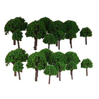 100pc Green Plants Scenery Landscape Railway Model Trees Scale 1/500 Toys