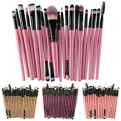 Hot 20pcs Makeup Brush Set tool Make-up Toiletry Kit Eyeshadow Make Up Brush Set
