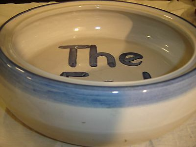 """MA Hadley  Vegetable or Casserole Bowl Double Handles """"The End"""" 8596"""