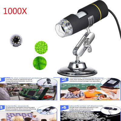 1000X USB Digital Microscope for Electronic Accessories Coin Inspection US Stock
