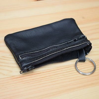 Mens Womens Real Genuine Leather Coin Purse Key Pouch | Variety of Colors