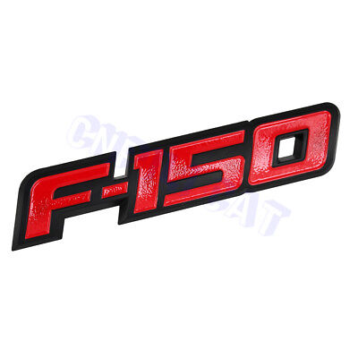 New 3D Ford F-150 Red&Black OEM ABS Rear Tailgate Emblem Nameplate With Buckles