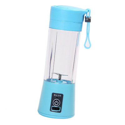 Portable Juicer Blender, Outdoor Travel Personal USB Mixer Juice Cup Blue 3S