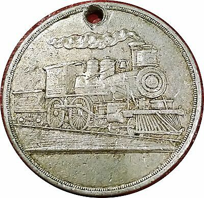 1902 ~ First Railroad Train In Tahlequah Indian Territory (Oklahoma) Medal Rare