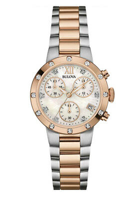 Bulova Women's 98R210 Quartz Diamond Accents Chronograph Two-Tone 35mm Watch