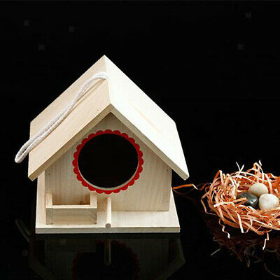 Wood Outdoor Yard Hanging Free Standing Wooden Bird House Feeding Station L
