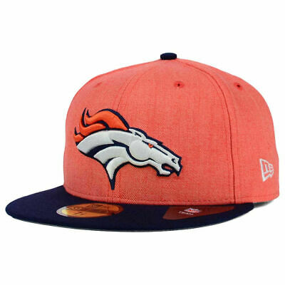 cheap for discount b9fe0 eb46c Denver Broncos New Era NFL Heather Action 2-Tone 59FIFTY Football Cap Hat  Men s