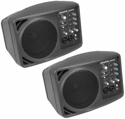 2 Mackie SRM150 Powered Active Pa Monitor Speakers With Built In EQ