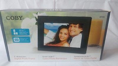 """Coby DP700 7"""" Widescreen Digital Photo Frame With Plug & Play, Black."""