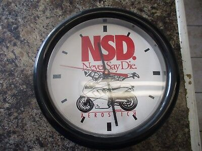Aerostitch NSD Advertising Clock  (works) Chaney Intrument Co Made in U.S.A.