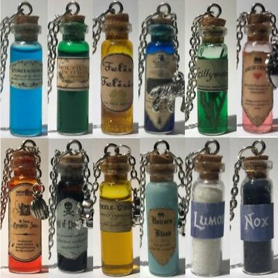 Harry Potter Potion Bottle Necklace Handmade You Choose
