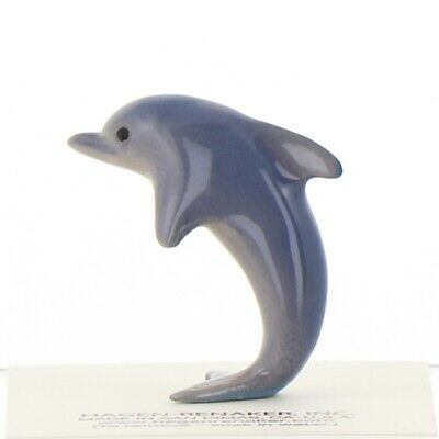 Porpoise Jumping Miniature Ceramic Dolphin Figurine Made in USA by Hagen-Renaker