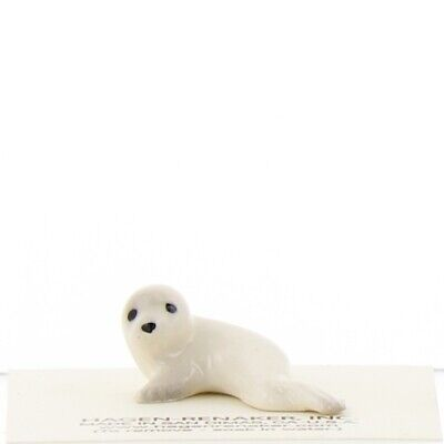Snow White Harp Seal Miniature Ceramic Figurine Made in USA by Hagen-Renaker