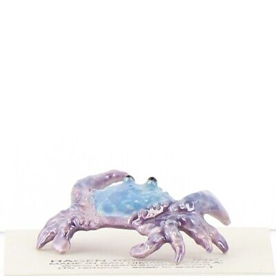 Blue Crab Miniature Ceramic Figurine Made in USA by Hagen-Renaker