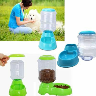 Large Cat Bowl Food Dispenser Dog Automatic Feeder Pet Food Container