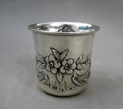 Antique Quality Small Solid Silver  Cup Art Nouveau Marked Boar Ii 50 Gr