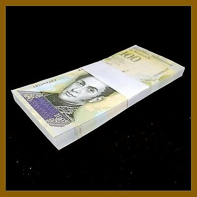 Venezuela 100000 (100,000) Bolivares x 25 Pcs Bundle, 2017 P-New Unc