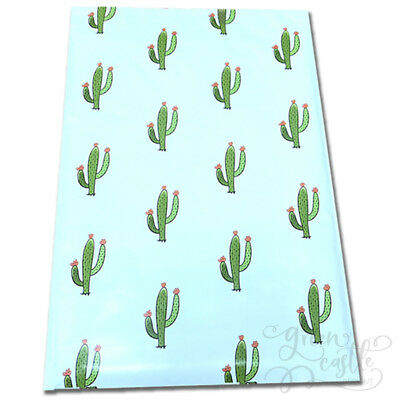 """Designer Poly Mailers Cactus 10x13"""" or 6x9"""" Plastic Mailing Shipping Envelopes"""