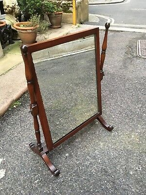 Edwardian Mahogany Desk Top Swing Mirror