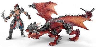 Schleich World Of Knights Eldrador Play Set 70128 - Warrior With Dragon