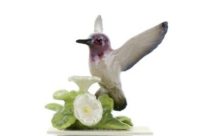 Calypte anna Hummingbird Miniature Ceramic Figurine USA Made by Hagen-Renaker