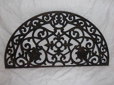 Antique Cast Iron Arched  Detailed Floral Decorative  Architectural Salvage
