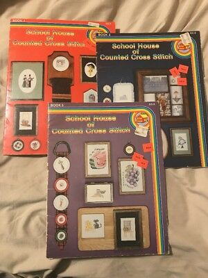 Books 1 2 5 School House Of Counted Cross Stitch