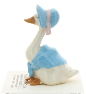 Blue Mother Goose Miniature Ceramic Figurine Bird USA Made by Hagen-Renaker