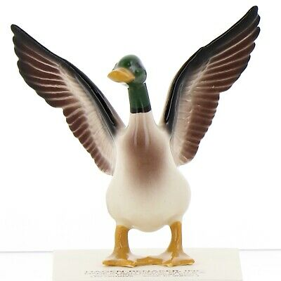 Mallard Duck Miniature Ceramic Figurine Bird Model USA Made by Hagen-Renaker