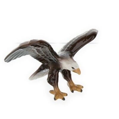Bald Eagle Miniature Ceramic Figurine Bird Model USA Made by Hagen-Renaker