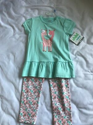 child of mine by carters baby girl 24 months shirt/pants set,summer,spring,NWT