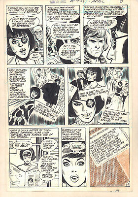 Adventure Comics #405 p.6 Starfire (Supergirl Enemy) 1971 art by Mike Sekowsky
