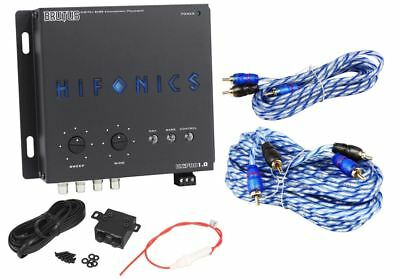 Hifonics BXIPRO1.0 Digital Bass Equalizer Sub Processor + 17' & 6' RCA Cables