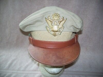 Wwii Us Army Air Forces Officers Crusher Cap By Society Brand Named In Sweatband