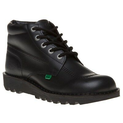 New Mens Kickers Black Kick Hi Core Leather Boots Chukka Lace Up
