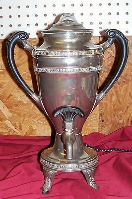 Antique Fancy MB Means Best Coffee Percolator Pot Manning Bowman Old Art Deco