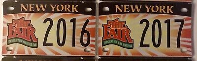 Lot of 6 NEW YORK Motorcycle State Fair Display/Souvenir special License Plates