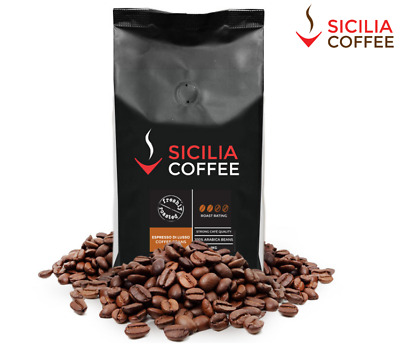 1kg Sicilia Coffee ESPRESSO DI LUSSO Fresh Roasted Coffee Beans, 100% Arabica