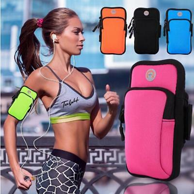 Arm Band Wrist Bag Strap Pouch Phone Holder for Running Cycling Jogging Gym B